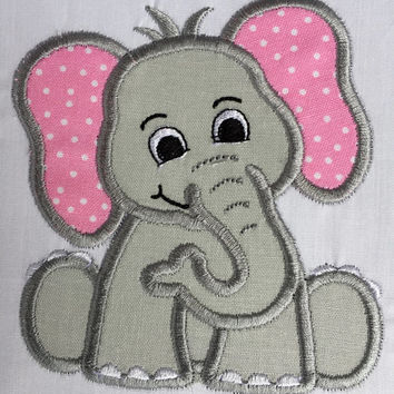 Elephant Patch, Elephant Applique, Embroidered Elephant, Iron On Patch, Applique Patch, Embroidered Elephant Patch, Baby Elephant Patch