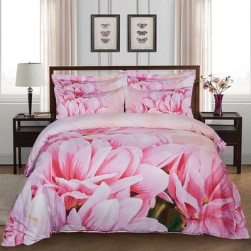 Duvet Cover Set, King size Floral Bedding, Dolce Mela - May DM701K