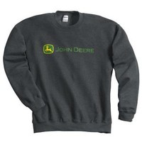 Gray John Deere Trademark Crewneck Sweatshirt and more john deere clothing