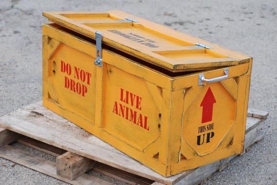 Toy box crate furniture animal crates by KingstonCreations on Etsy