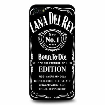 Lana Del Rey Born To Die Black iPhone 5/5s/SE Case