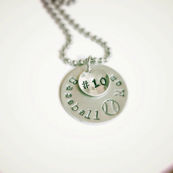 Baseball or Softball Mom Personalized Necklace