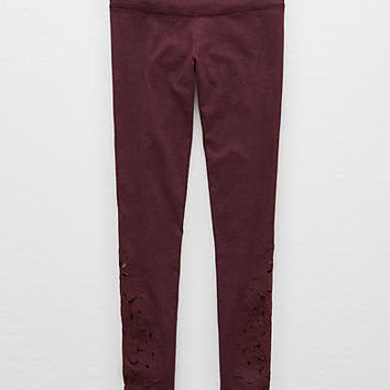 Aerie Chill Cutout 7/8 Legging, Deep Plum
