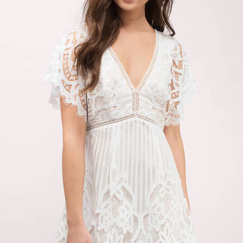 Lina Lace Skater Dress