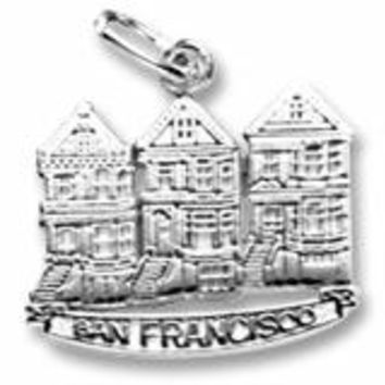 Victorian House,S.F. Charm In Sterling Silver