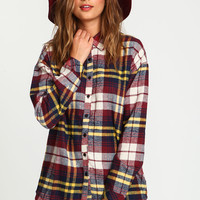 Boyfriend Knit Flannel Shirt