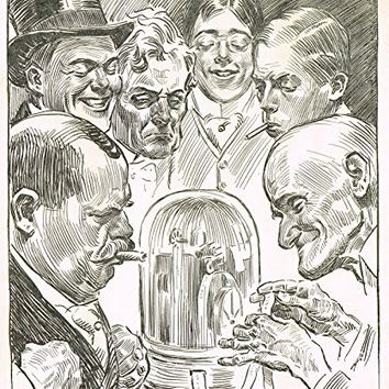 "The Gibson Book - ""SOME TICKER FACES"" - Lithograph - 1907"