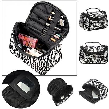 Wash Vanity Kit Travel Toiletry Necessaire Make Up Necessaries Makeup Cosmetic Bag Organizer For Women Beauty Case Handbag Pouch
