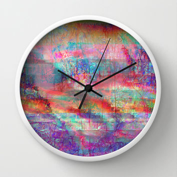 23-18-45 (Acid Rain Bed Glitch) Wall Clock by acousticdemons