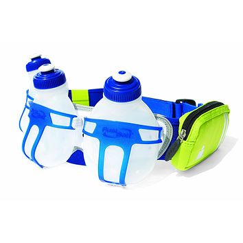 FuelBelt Ironman Collection R3O 3 Bottle Belt, Blue/Green, One Size