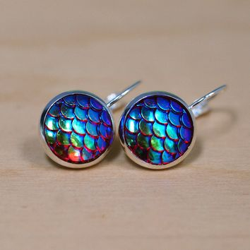 Magical Dragon Scales Earrings - Rainbow