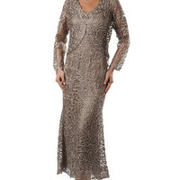 Mother of the Bride Dresses – C702 Crocheted Jacket Suit
