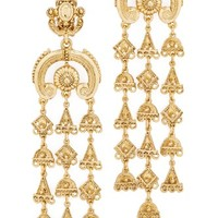 Charm Clip On Chandelier Earrings