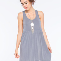 Others Follow Braid Back Dress Grey  In Sizes