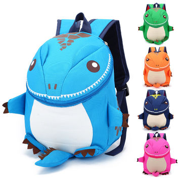 Kids Backpack Girls Boys 2017 New Gift Trend Children Cartoon Kindergarten Backpacks Bag Personality Small Dinosaur