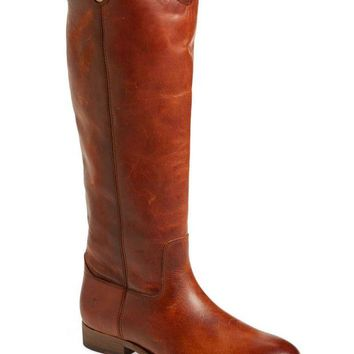 DCCKAB3 Frye Cognac Melissa Button 2 Cognac Leather Boots