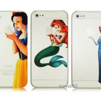 Frozen Elsa Princess Snow White Ariel Mermaid Case For iPhone 4 4S 5 5S Bump