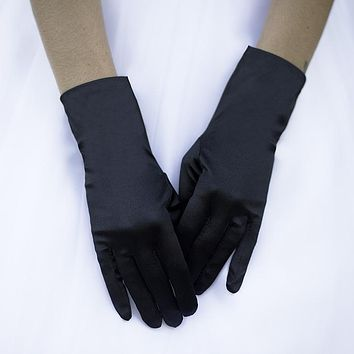 Short Satin Dress Gloves
