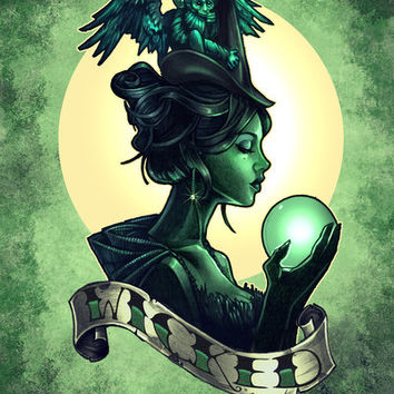WICKED Art Print by Tim Shumate   Society6