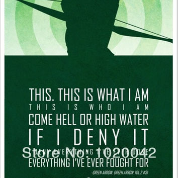 FC015BT Print Silk Poster SUPER HERO Superman GREEN ARROW Batman Ironman  Art Decor 24x36 in Unframed. = 1946210052