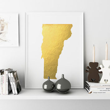 Vermont Map State Watercolor Painting Poster Print USA United States Usa Map Print Watercolor Art Modern Abstract Landscape Art Black White