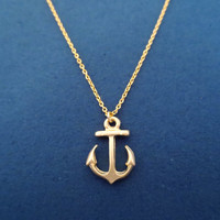 Luck, Anchor, gold, Necklace