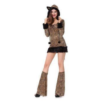 Leopard Print Catwoman Animal Garment Sexy Game Uniform