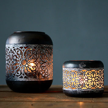 Creative Metal Art Iron Waves Candle Holders