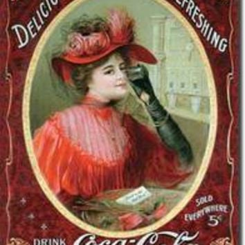 Tin Sign : Coke Victorian Red Dress
