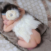 Newborn Angle Wing with Headband Photography Props