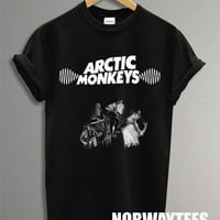 New Arctic Monkeys Shirt The Bnad Symbol Printed on Black and White t-Shirt For Men or Women Size X 12