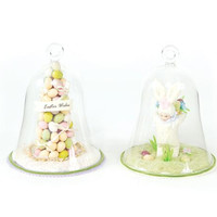 4 Easter Decorations - Glass Domed