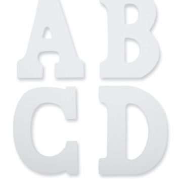 artminds white wood letters small
