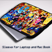 All Characters disney Y400 Sleeve for Laptop, Macbook Pro, Macbook Air (Twin Sides)