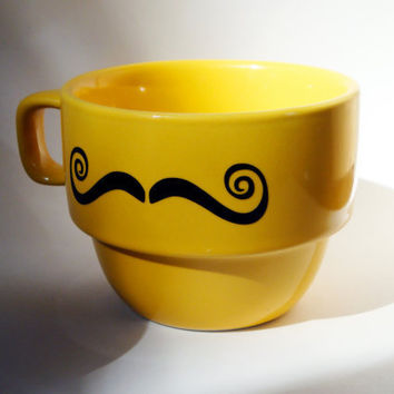 Moustache Stackable Mug Limited Quantities by modernmadness