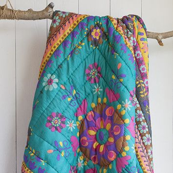 Purple  &  Green  Natural  Life  Quilt  -  Twin/Full  From  Natural  Life