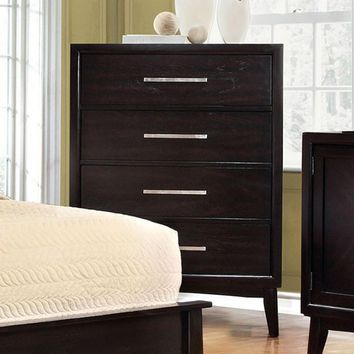 Contemporary Style Wooden Chest, Espresso Brown