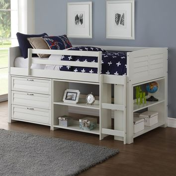 Anna Loft Bed with Two Bookshelves