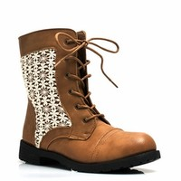 Daisy Daze Crochet Lace-Up Boots - GoJane.com
