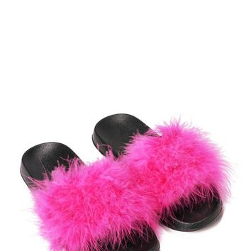 Animal Instincts Slide Sandal