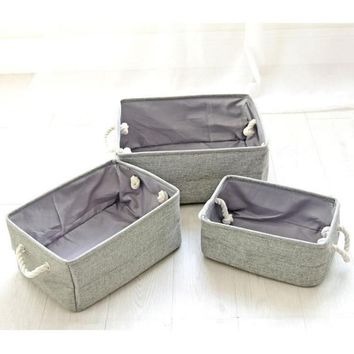 Portable Canvas Laundry Storage Baskets Multi-Function Bathroom Dirty Clothes Hamper Kid Room Toys Organizer