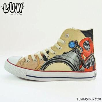 DCCKHD9 DEADPOOL - marvel comics, customized sneakers, unisex shoes, comics shoes, handpainted