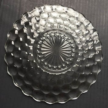Anchor Hocking Clear Bubble Glass Dinner Plate | Bubble Glass Plates