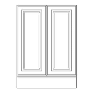 Shop VILLA BATH by RSI White Catalina 2-Door Base Cabinet (Common: 24-in x 21.5-in x 33.5-in; Actual: 24-in x 21.5-in x 33.5-in) at Lowe's