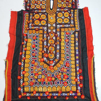 Vintage Banjara Dress, Indian Banjara Tribal Area Rajasthan dress, Handmade Embroidery Mirror Work, Vintage Fabric Banjara Dress