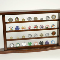 Display Case for Casino Tokens and Poker Chips: Poker Chip / Casino Token Display Case