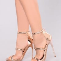 Stella Zip Up Heel - Rose Gold