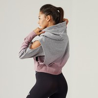 Gymshark Cirrus Cropped Pullover - Light Grey