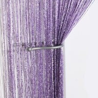 New Romantic Tassel String Curtain Window Door Divider Sheer Curtains Valance rod pocket Vestibule Wall line curtain Decor Y3