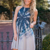Swirl Up Dress, Navy